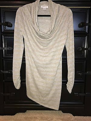 NWOT Motherhood Maternity Lightweight Asymmetrical Drape Neck Sweater, Small
