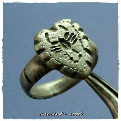 ** ARCHERY-SCORPION ** ancient SILVER LEGIONARY Roman ring II - III century  !!!