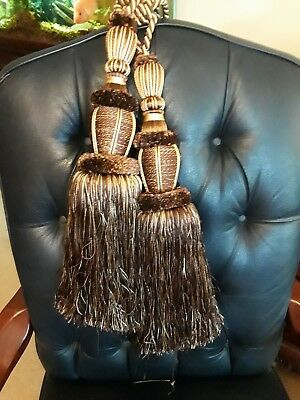 Very Large Pair of Tie Back-Tassels-Curtain--Window-Rope--Decorative--