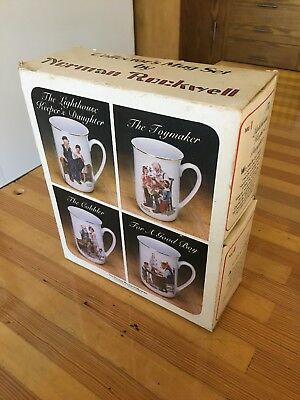 Collector's Mug Set by Norman Rockwell - 1982