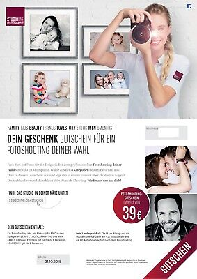 Fotoshooting Gutschein von 39€ Studioline Photostudios inkl. ein Make-up by MAC