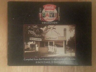 Vintage 1996 Coca-Cola Travel Refreshed Collection, 8 Note Cards, 8 Envelopes