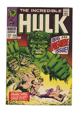 The Incredible Hulk #102 (Apr '68). Premier of solo series. Marie Severin art!