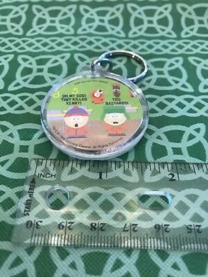 South Park 1998 Acrylic Oh My God! They  Killed Kenny Keychain Keyring FREE SHIP