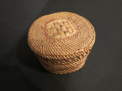 Native American Indian Indian Basket with lid