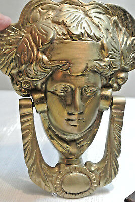 VICTORIAN Woman Face BRASS DOOR KNOCKER