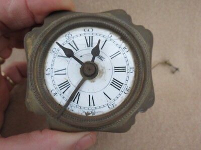 Small Antique French Alarm Clock Movement For Spares.