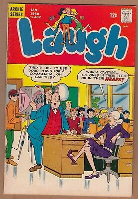 Laugh #202 (Archie-1968) FN-  Nice!  -combine ship-