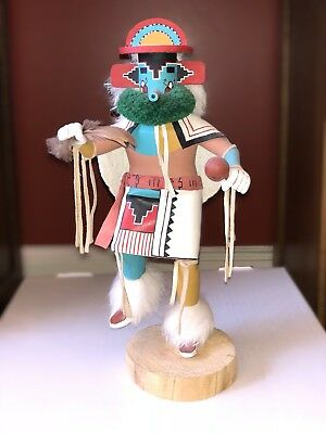 Rainbow Kachina Doll. 11 Inches. Signed On Bottom