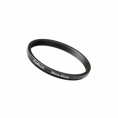 Fotodiox Metal Step Down Ring Filter Adapter, Anodized Black Aluminum 58mm-55...