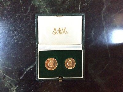 1983 South Africia Gold 2 Coin Set -1 rand + 2 rand