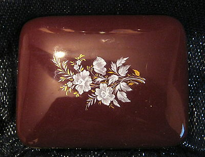 Pretty Prinknash Pottery lidded pin dish 5ins long 3.75 ins wide lovely item