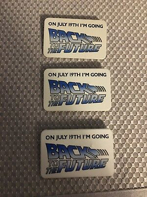 3 Back To The Future Movie Pin Backs 1985