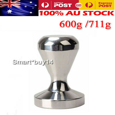 51/57.5mm Stainless Steel Barista Manual Coffee Tamper Tamp Polished Espresso OZ