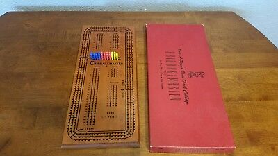 Vintage Drueke Cribbagemaster Once Around 3 Track Cribbage Board Model 1950