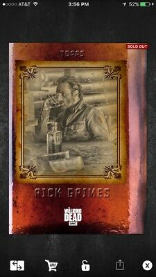Topps The Walking Dead Card Trader Rick Grimes Time Out Baby Sips Digital