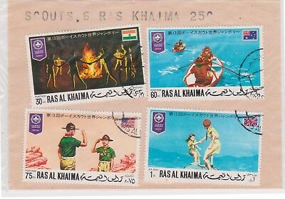 (V8-59) 1980s RAS AL KHAMA old stamp 6stamps scouts (BJ)