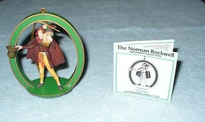 "Vintage Norman Rockwell Ornament Collection ""Tiny Tim"" 1988"