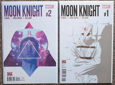 MOON KNIGHT #1 and #2 - 1st PRINT - NEAR MINT 9.4 OR BETTER - MARVEL 2016