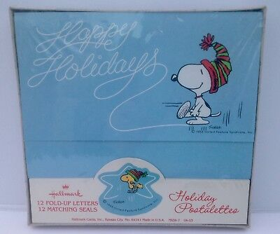 Hallmark Peanuts Holiday Postalettes Snoopy Woodstock Christmas Cards Unopened
