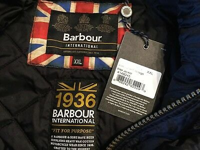 BARBOUR INTERNATIONAL GAUGE WAX MOTORCYCLE JACKET New w/Tags