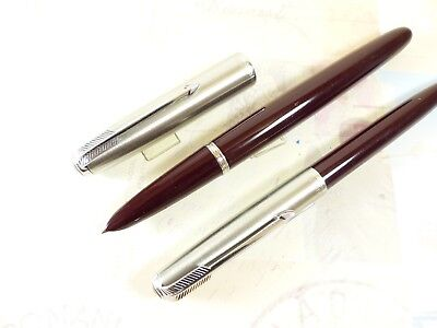 Restored Burgundy Parker 51 Fountain Pen and Pencil Set