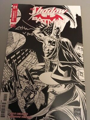 THE SHADOW and BATMAN #1 Signed ETHAN VAN SCIVER VARIANT