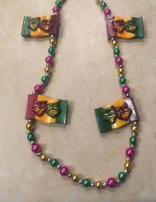 Decorative Poly stone Mardi Gras Bead