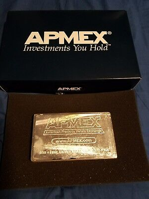 1 Kilo Silver Bar .999 Pure Silver - APMEX  - Made By Academy ISO 9001 Certified