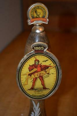 Vintage Faust Devil In Flaming Robes Beer Draft Tap Handle~Pub Style Beer Tap