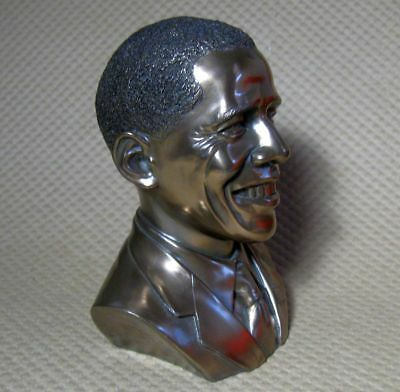 President Barack Obama bronze finish bust Summit Collection statue figurine head