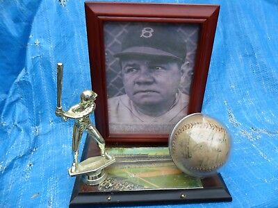 Babe Ruth Single Boldly Signed Baseball New York Yankees Jsa Coa !!