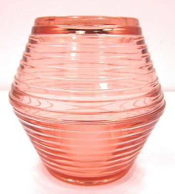 Vintage Pink Glass Fairy Lamp