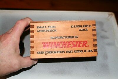 Winchester Wood Ammo Box 22LR Super X  Crate Sliding top