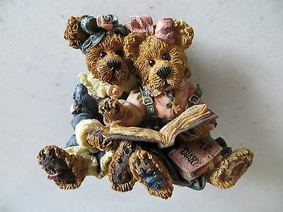 Boyds Bears Bailey & Becky The Diary 228304RS NEW IN ORIGINAL BOX