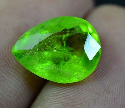 August Birthstone - Natural Untreated Green Fine Pear Shape Peridot Gemstone