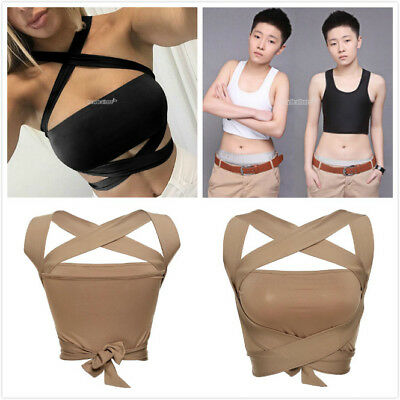 Short Chest Breast Vest Breathable Buckle Binder Trans Lesbian Tomboy Cosplay eh