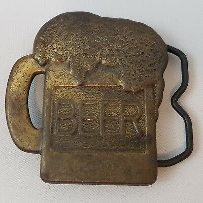 Rare New Old Stock Vintage 1970's Beer Frosty Suds Mug Brewery Belt Buckle