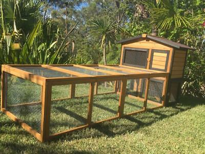 Rabbit Hutch Guinea Pig Cage pet chicken coop Somerzby Villa and LARGE RUN
