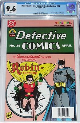 Detective Comics Special Replica Edition #38 CGC graded 9.6 Origin & 1st Robin