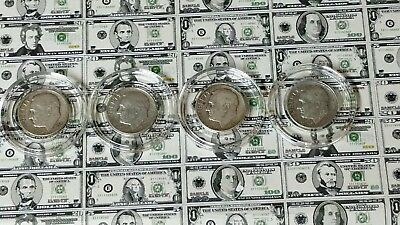 #53 1953 &1953-D Lot Circulated Roosevelt Dimes In Capsules