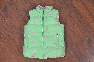 LILLY PULITZER Sz 6 Girls Reversible Green Crab Pink Multi Sea Travel Vest [D14]