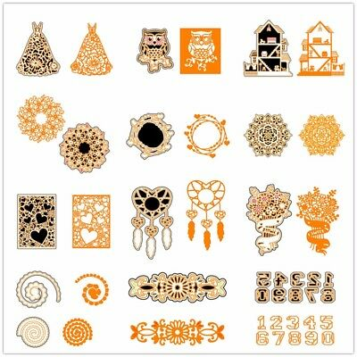 Decor Flower Metal Cutting Dies Stencil DIY Scrapbooking Album Embossing Craft