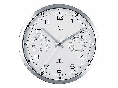 Top Radio-Controlled Wall Clock, Temperature, Air Humidity, Automatic Winter U.