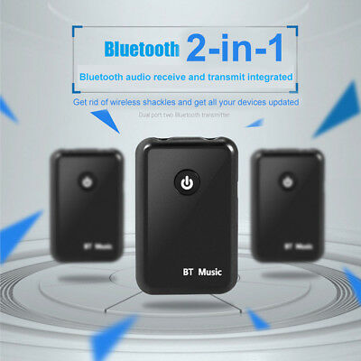 Wireless Bluetooth Receiver Transmitter 2in1 Portable Audio Player 3.5mm Adapter