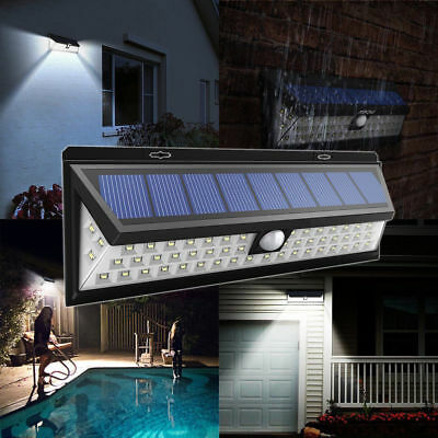 54 LED Solar Powered Light with PIR Body Motion Sensor Lamp Garden Spotlights