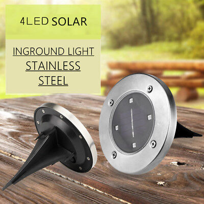 6x Solar Power LED Buried Inground Recessed Light Garden Outdoor Deck Path
