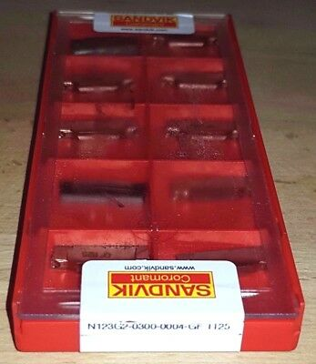 10 x SANDVIK INDEXABLE INSERTS N123G2-0300-0004-GF 1125 19% Carbide Inserts
