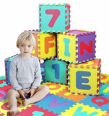 36Pcs Soft Eva Baby Kid Foam Play Mat Floor Jigsaw Learning Puzzle Letter Number