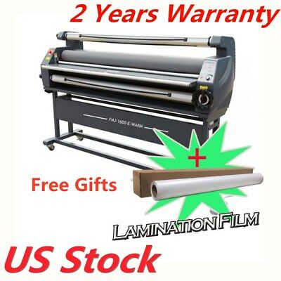 """US Stock 63"""" Entry Level Full Auto Wide Format Heat Assisted Cold Laminator"""